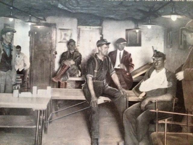 A hospital housed inside the mine.